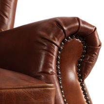 MarquessLife 100%Genunie Leather Handmade Tufted High Wing Back Sofa Armchair image 3
