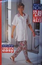 Vintage Butterick Sewing Pattern 6123 Misses Top & Pants Uncut Ez Oop New - $4.89