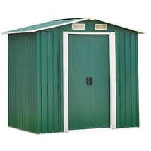 6' x 4' Steel Storage Shed Utility Outdoor Garden Backyard Lawn Tool Hou... - $425.97