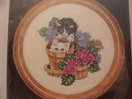 Janlynn Kitties And Flower Pots Counted Cross Stitch Kit 80-74 Kitten Ca... - $12.86