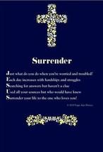 Surrender Jesus Church Messiah Poster acrostic poetry Prayer Christian B... - $9.89