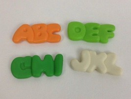 Fisher Price Fun With Food Lot of 4 Vintage Replacement Alphabet Noodle ... - $15.99