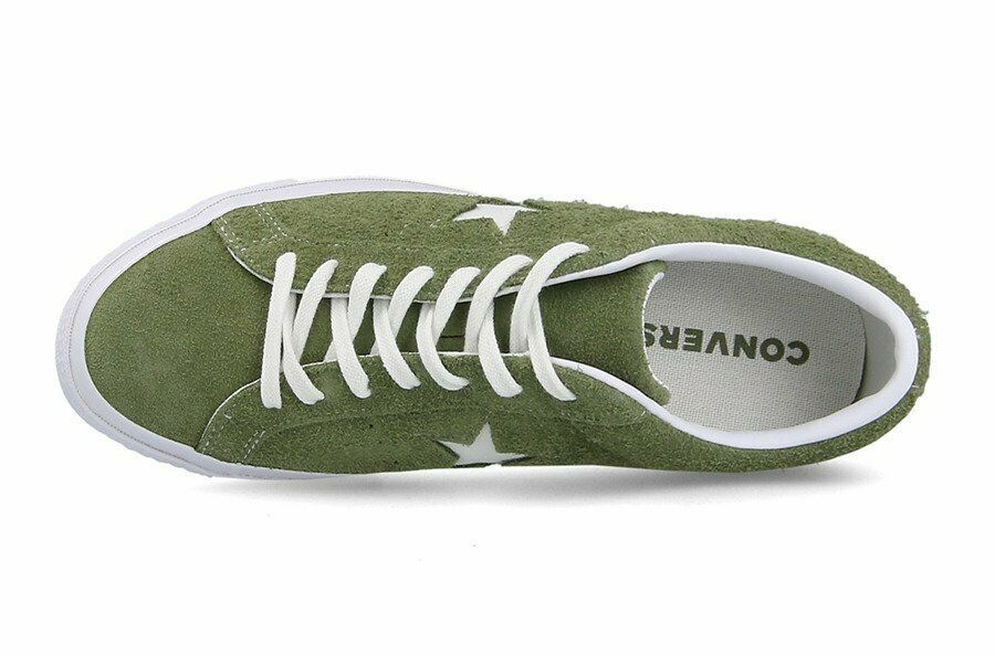 Converse Mens One Star Ox Suede 161576C Field Surplus (Olive) / White Size 9 image 3