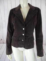 Calvin Klein J EAN S Blazer M Brown Cotton Elastane Blend Thin Wale Corduroy Chic! - $48.51
