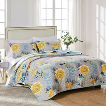 Greenland Home Watercolor Dream 100% Cotton Quilt Set, Gray - $107.68+