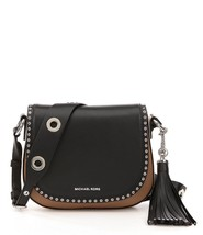 MICHAEL KORS Brooklyn Colorblock Medium Saddle Bag Msrp 398.00 - A Beauty! - $179.99