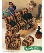 Southwest Santa Fe Sofa Chair Table Dream Catcher Cactus Barbie Crochet ... - $10.99