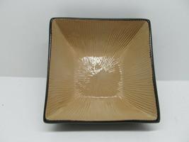 Joseph Abboud Ventana Brown/Tan Square Soup Bowl Excellent Condition - $28.42