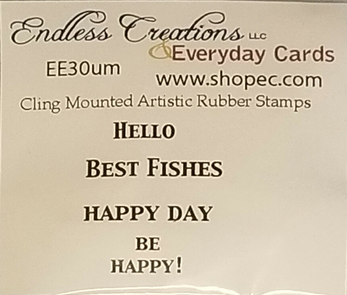 Endless Creations Rubber Stamps 4 Pack Rubber Stamp Sentiments #EE30um