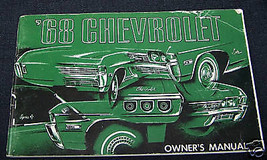 1968 Chevrolet Impala 396 /427 Convertible Owners Manua - $45.00