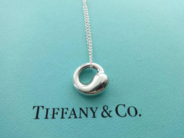 Authentic Tiffany & Co. Elsa Peretti Sterling Silver Eternal Circle Pend... - $115.00
