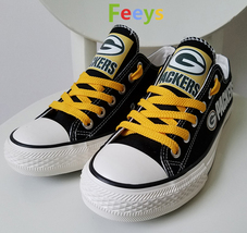 packers shoes mens packers sneaker converse style green bay fans christmas gift - $56.00