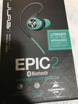 JLab Audio Epic2 Bluetooth 4.0 Wireless Sport Earbuds - Teal - GUARANTEED IPX5