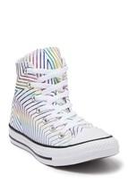 Converse Rainbow Metallic Foil Chevron Stripes & Star High Top Shoes Wm's NWT - $64.99