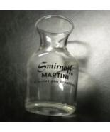 Smirnoff Martini Shot Glass Miniature Carafe Style Clear Glass Black Log... - $7.99