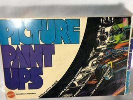 Vintage Mattel Picture Paint Ups 1970 Motorcycle Racing Picture with Paint - $14.00