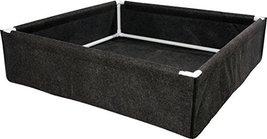 Hydrofarm HGDPB4X4, 4' x 4' Fabric w/PVC Frame Dirt Pot Box, 4x4, Black - $102.78