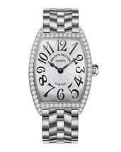 Franck Muller ladies  curvex stanless steel diamond watch 1752 qz dp ac bace - $8,000.00