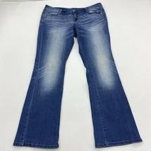 Degree Denim Jeans Juniors 17 Blue Bootcut Leg Low Rise Slim Fit Washed ... - $18.95