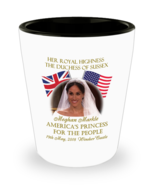 Duchess Of Sussex Meghan Markle Commemorative Shot Glass Collectors Keep... - $11.99