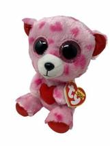 Ty Beanie Boos Sweetikins Plush Pink Teddy Bear Holding Heart Glitter Ey... - $6.50