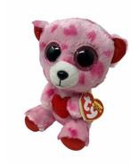 "Ty Beanie Boos Sweetikins Plush Pink Teddy Bear Holding Heart Glitter Eyes 6"" - $6.50"