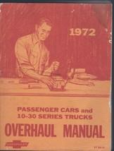 1972 Chevrolet CORVETTE Overhaul Manual Passenger Cars Light Duty Trucks - $20.74