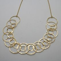 Choker Necklace Silver 925 Foil Gold with Circles by Maria Ielpo Made in Italy image 5