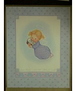 Floating Angel holding Puppy Artwork Wall Decor Unframed - $19.80