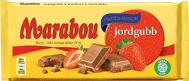 Marabou STRAWBERRY 185g Made in Sweden (SET OF 8 bars, 185 x 8 = 1480g) - $39.59