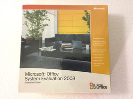 Microsoft Office System Evaluation 2003 Enterprise Edition, Sealed CD - $22.69