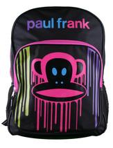 Paul Frank Big KRNK Face Mochila Negra Pintura Goteante Multicolor Goteante Rosa