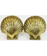 Pair of Brass Scallop Shell Bookends - $400.00