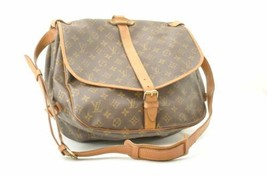 LOUIS VUITTON Monogram Saumur 35 Shoulder Bag M42254 LV Auth cr259 - $320.00