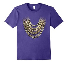 Awesome Shirts - Golden Chains Funny T-Shirt Hip Hop Fan And Gold Lover ... - $19.95+