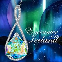 Joan Rivers Aurora Borealis Slide Necklace - Silvertone - $11.75