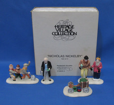 Department 56 Heritage Village Collection Nicholas Nickelby 4 Porcelain ... - $9.89