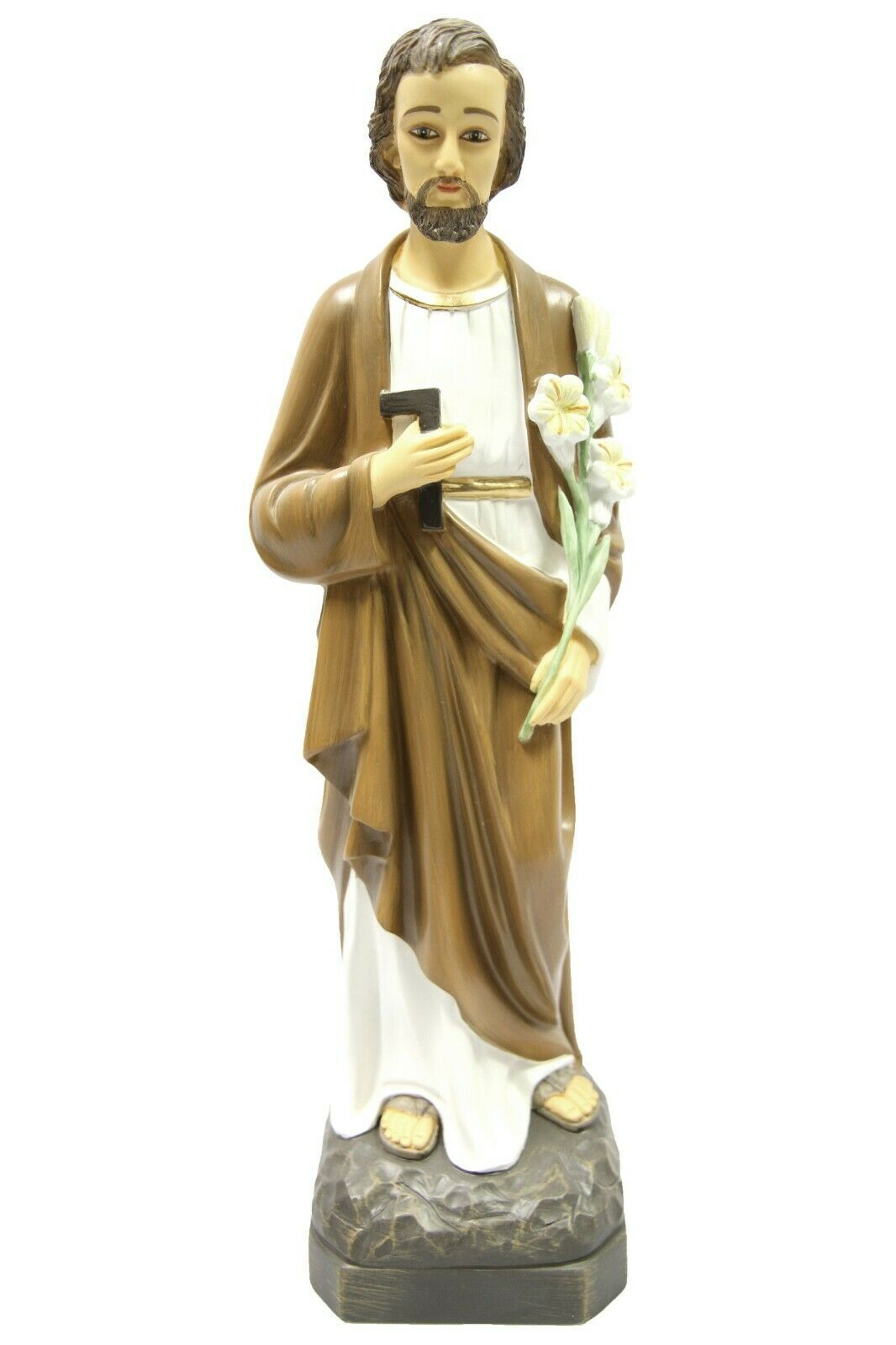 "Primary image for 19"" Saint St Joseph the Worker Catholic Statue Sculpture Vittoria Made in Italy"