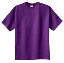 Plain Purple T-Shirt 50/50 Sz 2X For The Casual Red Hat Lady Of The Society - $8.16