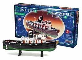 """Lindberg Diesel Tug Boat 1:87 Scale Model Kit 13.5"""" Long New in Box - $29.88"""