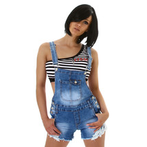 Women's Denim Dungarees shorts Hot Pant  Jeans  UK 6-14 - $35.78