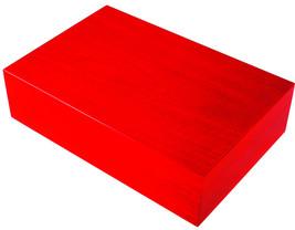 Ercolano Luxury Wooden Handmade Italian Luxury Red Jewelry Box - $290.00