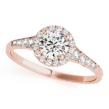 Rose Gold Plated 925 Sterling Silver Round Cut White CZ Women's Engageme... - $73.99
