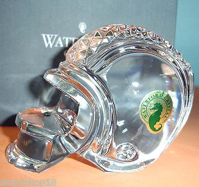 Waterford Crystal Football Helmet Paperweight Made In Ireland New In Box image 2
