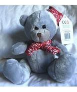 Christmas Teddy Bear Blue/Grey - NEW - $11.02