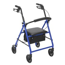 Drive Medical Rollator With 6'' Wheels Blue - $67.30