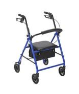 Drive Medical Rollator With 6'' Wheels Blue HCPCS E0143+E0156 - $80.05