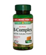 Nature's Bounty, Super B-Complex with Folic Acid Plus Vitamin C, 150 Tab... - $38.25