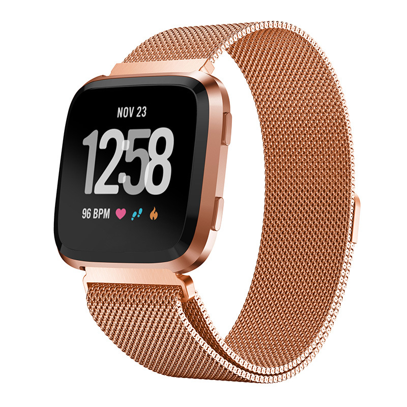 22.5mm Replacement 3 color Milanese Watch Band Stainless Steel Strap For Fitbit