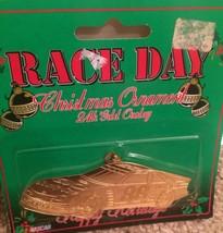 Nascar Race Day Christmas Ornament #88 24 Gold Overlay New - $14.01